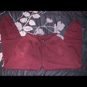 Maroon fashion nova sweatpants